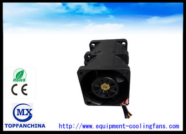 China 40mm x 40mm x 56mm schwarzer Ventilator des Zwillings-Computer-Kasten-Ventilator-/DC für Laptop fournisseur